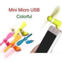 Wholesale Portable USB Mini Fan For iPhone s s s plus S3 S4 S5 Micro USB Mobile Phone DHL Free OTH231