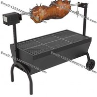 bbq chicken charcoal - Medium Chicken Gyro Charcoal Barbeque BBQ Grill Spit Rotisserie Hog Roaster Machine with v v kg Motor