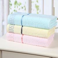 bath cubes - Home textile High quality Cotton Jacquard Towel Water Cube Style Bath Towels Plain Soft and Comfortable Good Quality Cm Cm