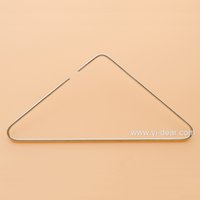 Wholesale Yidear cm Triangle Stainless Steel Clothes Hanger Metal Wire Coat Display Hangers Jean Hanger Scarves Hanger Dress Hanger