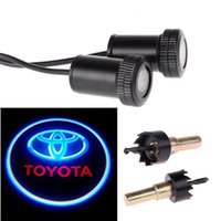 Wholesale Universal Car LED Projector Door Lamp Ghost Shadow Welcome Light Laser Emblem Logo Kit for Toyota with Stylus Dust Plug Pair