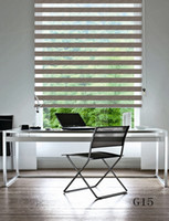 Wholesale Custom Made Shade Translucent Roller Zebra Blinds in Beige Curtains for Living Room Colors Are Available G15