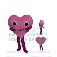 adult hearing - New Custom Valentine s Day Pink Hear Mascot Costume Adult Red Heart Theme Anime Cosply Carnival Birthday Party Mascotte Dress
