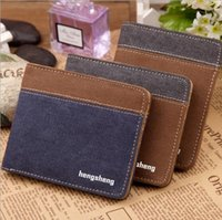 big canvas photos - Fashion Christmas Gift Wallet Man Leather Canvas Man s Vintage Big Capacity Short Purse for Student Boy