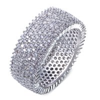 Wholesale DC1989 New Look Office Lady Round Ring Made with aaa Cubic Zirconia Pave Setting Lead Free