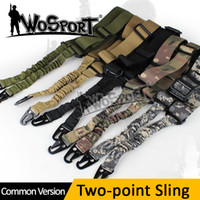 Wholesale Tactical Adjustable Two Point Sling Equipment Airsoft Hunting Gun Rifle Pistol Strap Outdoor Bungee System Kit