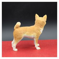 akita dogs - Japanese Akita Simulation Dog Figurine Crafts Artificial Hand Painting Dog Decoration Figurine Crafts with Resin for Shopwindow Decoration