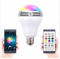 Wholesale Bluetooth Smart Speaker RGB Light Bulb Intelligent Music Player LED Lamp Waterproof APP Remote Control for Android IOS Phones