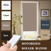 Wholesale New Motorized Black Roller blinds cm Drop with Dooya motor DM25TE TWO WIRES