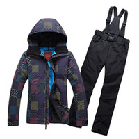 Wholesale Women Man Ski Suit Ski Jas Vrouwen Snowboard Warm Clothing Ski Jacket Pants Windproof Waterproof Suit Set High Quality Set