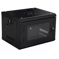 Wholesale 6U Wall Mount Network Cabinet Server Data Box Enclosure Rack Glass Door Lock US STOCK V1927