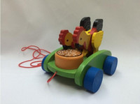 beat toy - Baby Toy Colorfully Cute Chicken Eating Rice Toy With Rope Beat Noise Wooden Toy Children Kids Toy Educational Toys
