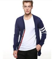 Wholesale Fashion Brand PoloSweater Cotton Cardigan Coat Men s Casual Cardigan Sweater Knitwear Pull Homme Men V collar Cardigans