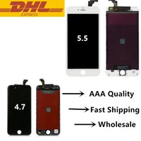 Wholesale On Sale For Iphone Iphone Plus LCD Touch Screen Digitizer Display Assembly With Cold Press Frame With No Dead Pixels