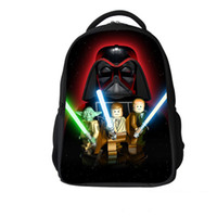 Wholesale Fashion LEGO Star Wars Pattern Cartoon Student Backpack Children Pupil Kid School Bag Unisex Bags Nylon Backpacks Bookbag Bag KBB015