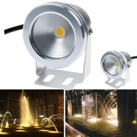 Wholesale 1000LM W COB LED Underwater Light V DC Cool Warm White IP68 Waterproof Foutain Pool Lamp Lighting