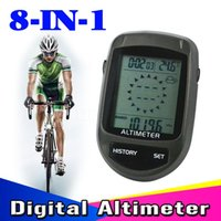 Wholesale Climbing Equipment in LCD Backlight Altimeter Compass Cycling Barometer Thermometer Temperature Forecast Bike Holder