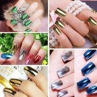 long nail art tips - 2016 Charming UV LED Nail Polish Metallic Soak Off Color Nail Art Tips Manicure UV Gel Polish Varnish ml Long Lasting LQN