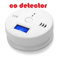 Wholesale High Sensitive CO Detector Carbon Alarm system Tester Detector Gas Fire Poisoning Detectors LCD Display Security Home Safety Alarms Detector