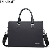 best laptop briefcase for men - LALA IKAI Best Mens Briefcase Waterproof Leather Office Bag for Man Luxury Male Business Bag Men Handbags Laptop BMC0027