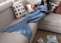 Wholesale mermaid tail blanket cosplay winter warm blankets costume handmade cm cm with Colors