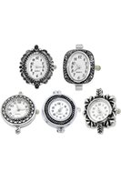 Wholesale Set Mixed Fashion Quartz Watch Face Silver Plated For Beading Women Jewelry Making High Quality