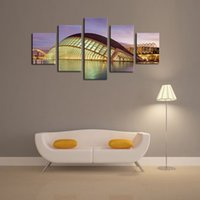 architecture artwork - 5 Piece The Modern Architecture Home Wall Decor Canvas Picture Art HD Print Painting On Canvas Artworks Painting By Numbers