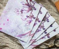 Wholesale Fashion Chinese Style Orange Purple Kapok Envelope Translucent Postcard Letter Stationary Paper Envelope