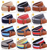 Wholesale New Arrivals brand designer belts mens designer belts luxury belts for men women Stretch woven elastic belt colors unisex