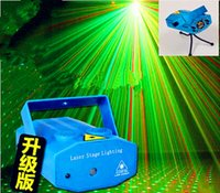 Wholesale 1pcs Best selling home party Mini Laser Stage Lighting mW mini Green Red Laser DJ Party Led Stage Light