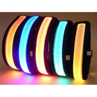 Wholesale Color LED light wristband luminous bracelets nocturnal band running security arm band fluorescence Switch Control