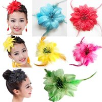 baby lilly - Baby Girl Lilly Flower Feather Hairpin Head Hair Clip Barrette Ballet