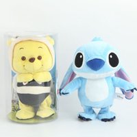 bee figures - NEW can speak electric recording voice lilo stitch winnie the pooh bee stuffed electric recording walking doll plush toys gift