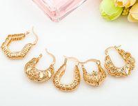 Wholesale 3cm Top Sale alloy gold Temperament retro fashion earrings U shaped hollow handmade woven earrings Minimalist personality Earrings jelwery