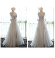 Wholesale 2016 New Eveing Dresses Wedding Dresses Bridesmaid Dresses Long Dress Grey Party Dress For Girls Women In Stock