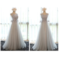 Wholesale 2016 New In Stock Eveing Dresses Bridesmaid Dresses Long Dress Grey Party Dress For Girls Women