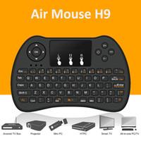 Acheter Pcs jeux-Air souris Télécommande H9 mini sans fil Handle Touchpad Clavier et souris pour Android Projecteur Tout-en-un PC Smart TV Boxes