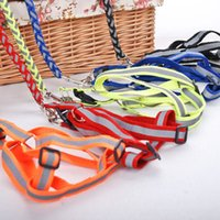 Wholesale Hot sale dog collar leads harnesses strong rope solid jean denim leash pet dog harness