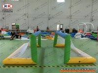 water park games - Cheap Inflatable Football Goal for water park games Inflatable Water Sport Equipment