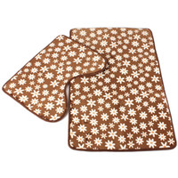 bathroom brown rug sets - 2pcs set Brown Floor Bath Mats Set Non Slip Bathroom Toliet Rugs cm Water Absorption Carpet