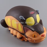 Wholesale Totoro Toys My Neighbor Totoro Cat Bus Cute Lovely Piggy Bank PVC Action Figure Collectible Toy Doll Child Toys Gifts