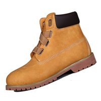 ankle boots comfortable - Fashion Waterproof Ankle Boots for Men Comfortable Mens Martin Boots Closure with Wide Lace Suede Leather F420130