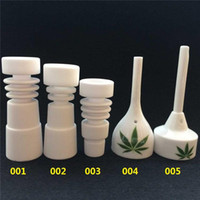Ceramic Nail   Bongs Tool Set Ceramic Carb Cap 14mm 18mm with Male Female Joint Ceramic Nail for oil rigs Glass Bongs Water Pipe
