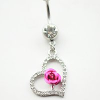 accessories body - 0516 mix colors heart style belly ring style Belly Button ring Navel Rings Body Piercing Jewelry Dangle Accessories Fashion Charm