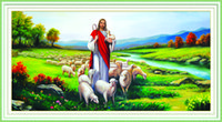 animal crossing stories - Bible Story Jesus Shepherd Decorative Diamond Painting Cross Stitch Calligraphy D DIY Embroidery Rhinestone Wall Art Home Decor