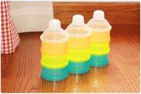 Solide Couleur Portable Infant Feeding Lait alimentaire Poudre de lait Boîte de rangement alimentaire Contenance 3 cellules Grille Box WA0179