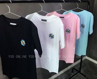 authentic tees - Authentic TRUNKS SS Murakami sunflowers embroidery summer short sleeved Tee couple Tide brand