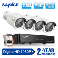 Wholesale SANNCE CH HD MP P NVR POE IP Network Camera Outdoor Home Security System