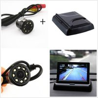 Wholesale Car Rear View LED Night Vision Camera quot Foldable LCD Display Monitor