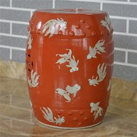 Wholesale Antique chinese hand painted Ceramic Drum Stool Garden Outdoor Stool Customize